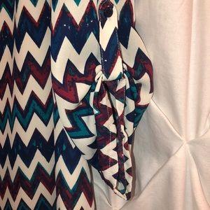 Speechless Dresses - Chevron pattern women's midi dress